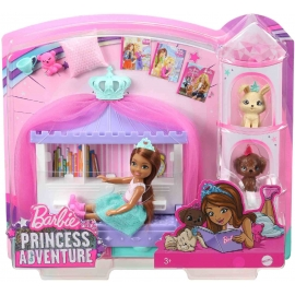 Mattel - Barbie Prinzessinnen Abenteuer Chelsea Puppe brünett Märchenstunde-Spie