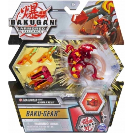 Spin Master - Bakugan - Armored Alloance - Baku-Gear - Dragonoid Ultra plus Magma Blaster