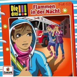 Europa - CD Die Drei !!! - Flammen in der Nacht, Folge 63