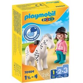Playmobil® 70404 - 1.2.3 - Reiterin mit Pferd