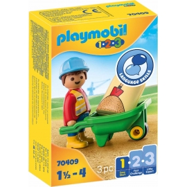 Playmobil® 70409 - 1.2.3 - Bauarbeiter mit Schubkarre