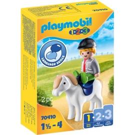Playmobil® 70410 - 1.2.3 - Junge mit Pony