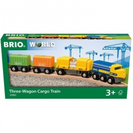 BRIO Bahn - Güterzug mit drei Waggons