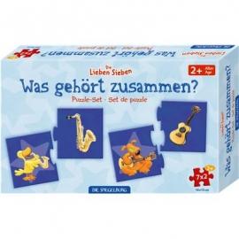 Die Spiegelburg - Puzzle-Set, Was gehört zusammen?, Die lieben Sieben