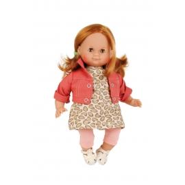 Schildkröt Puppe Schlummerle 32 cm rote Haare, braune Schlafaugen, Sommerkleidung rose/rot/braun