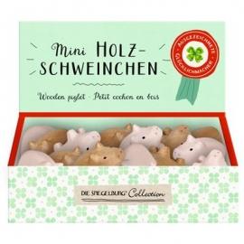 Die Spiegelburg - Mini-Holzschweinchen Viel Glück, sort.
