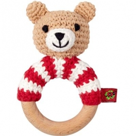 Die Spiegelburg - BabyGlück - Häckel-Ringrassel Teddy