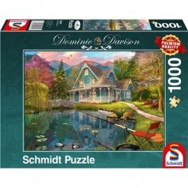 Schmidt Spiele - Puzzle - Ruhesitz am See, 1000 Teile