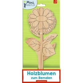 Holzblumen zum Bemalen (Mini-Künstler)