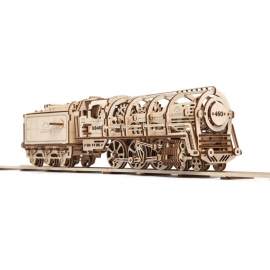 UGEARS Locomotive + Tender