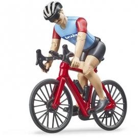 Bruder - bworld Rennrad mit Radfahrer