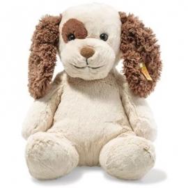 Steiff - Soft Cuddly Friends Peppi Welpe 38cm creme/braun sitzend