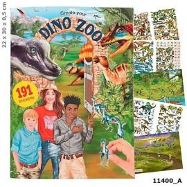 Create your DINO ZOO, Malbuch mit Stickern