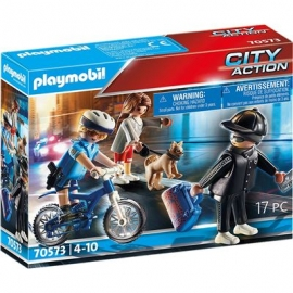 Playmobil® 70573 - City Action - Polizei - Fahrrad Verfolgung des Taschendiebs