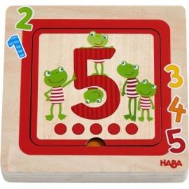 HABA® - Holzpuzzle Zahlenfreunde, 5 Teile