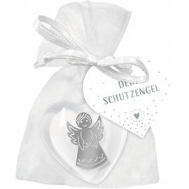 Handschmeichler Kunstharz - Herz mit Engel, sortiert