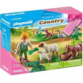 Playmobil® 70608 Geschenkset Bäuerin mit Weidetieren