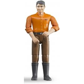 Bruder - Mann mit hellem Hauttyp und brauner Hose