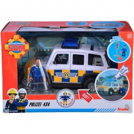 Simba - Sam Polizeiauto 4x4 mit Figur