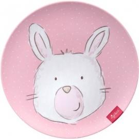 sigikid - Babytoys - Melamin Teller, Hase rosa