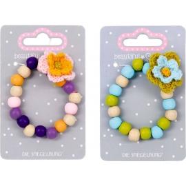 Holz-Armband mit Blume beautiful Stars, sortiert