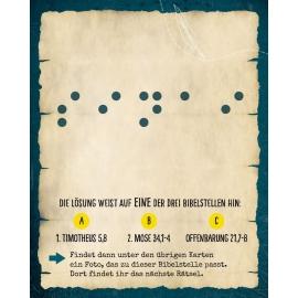 Schachtelspiel: Find your way out - Bibel-Escape-Spiel