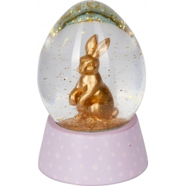 Glas-Glitzerkugel Frohe Ostern
