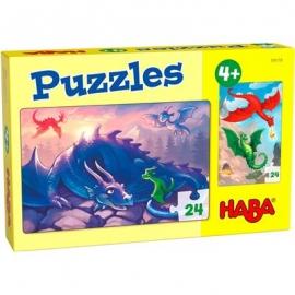 HABA® - Puzzles Drachen, 24 Teile