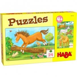 HABA® - Puzzles Pferde, 24 Teile