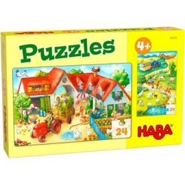 HABA® - Puzzles Bauernhof, 24 Teile