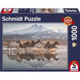 Schmidt Spiele - Puzzle - Pferde in Kappadokien, 1000 Teile