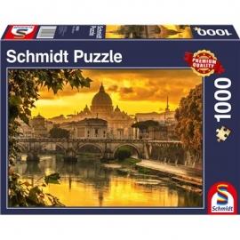 Schmidt Spiele - Puzzle - Goldenes Licht über Rom, 1000 Teile