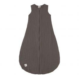 Sommerschlafsack - Muslin Baby Sleeping Bag GOTS anthracite, 50/56 0-