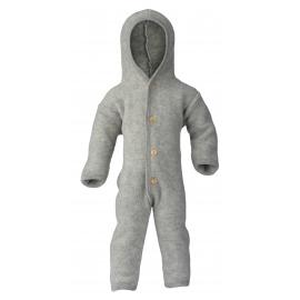 Baby-Overall mit Kapuze und Holzknöpfen