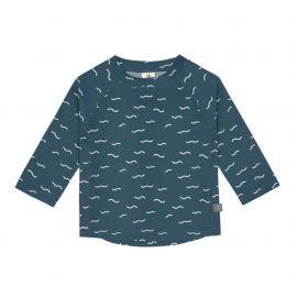 UV Shirt Long Sleeve Rashguard, Waves blue (2021)