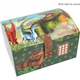 Depesche - Dino World - Schatztruhe mit Code, Sound und Licht