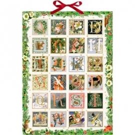 Coppenrath Verlag - Marjolein Bastin - Zauberhaftes Weihnachts-ABC, Wand-Adventskalender