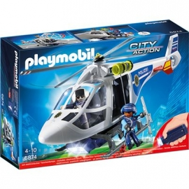 PLAYMOBIL® 6874 - City Action - Polizei-Helikopter mit LED-Suchscheinwerfer