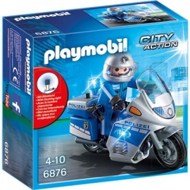 PLAYMOBIL® 6876 - City Action - Motorradstreife mit LED-Blinklicht